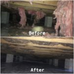 another crawlspace before and after